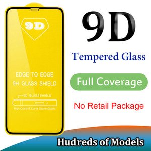 9D cobertura completa de vidro temperado para iPhone 11 Pro Max XS XR X 6 7 8 Plus SE 2020 Samsung A01 A51 A71 A91 A10E Huawei P40 Lite P inteligente redmi 8A