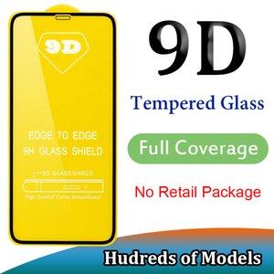 9D Tam Kapak temperli cam iPhone 11 Pro Max XS XR X 6 7 8 Artı SE 2020 Samsung A01, A51, A71 A91 A10E Huawei P40 Lite P Akıllı redmi 8A için