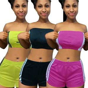 womens sportswear sleeveless outfits shirt shorts two piece set skinny shirt pants sport suit pullover tights hot selling klw3995