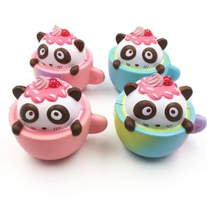 Creative Panda Coffee Cup Squishy Reduced Pressure Toy Multi Color Cute Squishies Decompression Toys High Quality