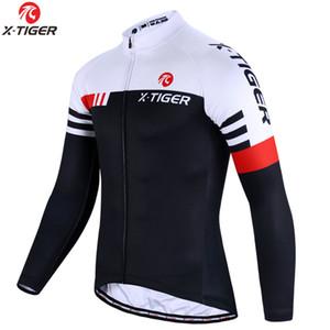 X-TIGER superiore Cycling Jersey manica lunga MTB della bicicletta vestiti della bici di montagna sportivo vestiti di riciclaggio