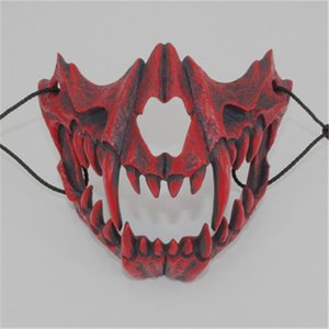 Personality Designer Party Masks Festival Cosplay Pattern Half-face Mask Halloween Day Creative Mask Accessories 5 Patterns