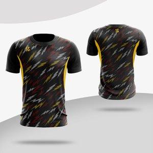قمصان تنس الرجال ، سريعة الجفاف الرياضة تي شيرت ، ملابس تنس الريشة الرجل ، بلايز التدريب اللياقة الرياضية قصيرة الأكمام يمكن مخصص