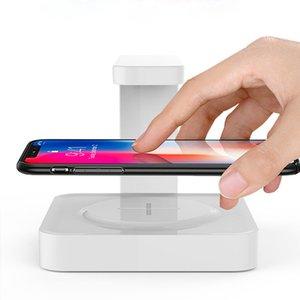 Telefon Dezenfeksiyon Lambası 2'de 1 Cep telefonu UV Temizleyici Kablosuz Hızlı Taşınabilir Telefon Ultraviyole Lambalar Sterilizasyon Lambası OOA7886 Şarj