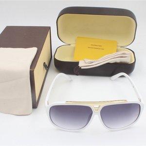2020 Free ship fashion evidence sunglasses retro vintage men designer shiny gold frame laser logo women top quality with package