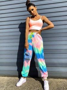 2020 new casual women's trousers tie-dye printing sports casual pants women's harem pants