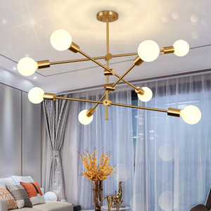 Modern chandelier lighting nordic design rotatable branch ball led chandeliers for living room restaurant bedroom light fixtures