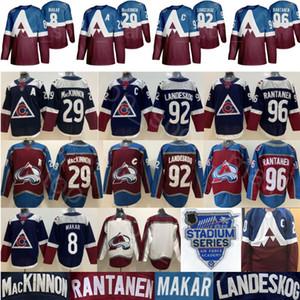 2020 Estadio Serie jerseys Colorado Avalanche Hockey 8 Cale Makar 29 Nathan MacKinnon 92 Gabriel Landeskog 96 Mikko Rantanen Armada Borgoña