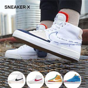 2020 جديد المصممين SB دونك ZOOM BLAZER منتصف الحافة أحذية رياضية الرجال النساء قماش هاك حزمة الجري عارضة لوح التزلج أحذية منصة 36-45
