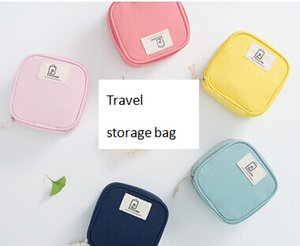 Travel Storage Bag Cable Earphone Organizer Girl Tissue Lipstick Cosmetic Small Bags Creative U Disk SD Card Case