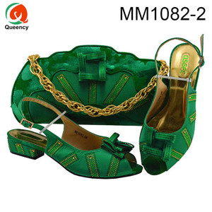 Dgrain High Quality African Female Daily Low Heel Shoes And Matching Bags Traditional Italian Shoes And Bags For Ladies