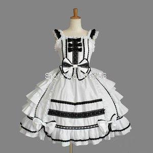 Custom-Made blanc doux gothique multi-couches Robe Lolita Pour Femmes Filles Princesse Robe en dentelle Bow gâteau