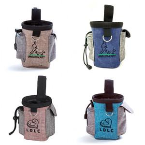 Portátil Dog Pet Trainning saco impermeável Oxford pano pequeno gato Doggy Snack cintura sacos filhote de cachorro Lixo bolso Eco-friendly 12qs E1
