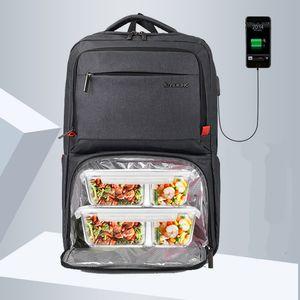 Preservação do calor Laptop Backpack Men 15,6 polegadas Office Work Men Backpack Bolsa de Negócios Unisex preto Ultraleve