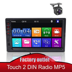 2 Rádio do carro DIN Rádio 7 polegadas Multimedia Player Touch Screen Auto Audio Bluetooth Carro Estéreo MP5 Monitor Com Vista Traseira Câmera Opcional