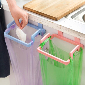 Portable Cupboard Door Back Hanging Trash Rack Storage Kitchen Garbage Rubbish Bag Can Holder Hanging Kitchen Cabinet Trash Rack