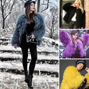 ETHEL ANDERSON Frauen Lamm-Pelz-Mantel-Tan Schaf-Pelz-Mäntel Kurz ganze Haut Jacke 50cm Mongolei Schaf Midwaist Länge