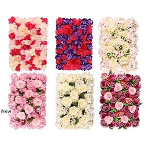 Decoración artificial flor de Rose para la boda flor de pared de 40 * 60 cm romántica de la boda de Navidad Telón de fondo partido de la flor de la decoración Suministros GGA2378