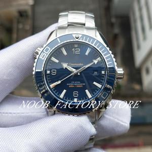 Nuova fabbrica automatica Cal.8900 della vigilanza del movimento di ceramica blu Calendario Ocean Orologi completa Acciaio Dive Planet 600 Luminous 43,5 millimetri Wristwatche
