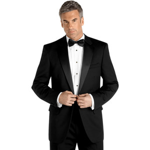 custom made suit men tuxedo for wedding groom suits black 2020 mens wear two piece suit