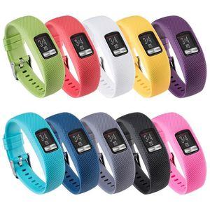 Silicone Grain orologio da polso banda intelligente braccialetto cinghia per Garmin VivoFit 4 Sostituzione cinturini per Garmin VivoFit4