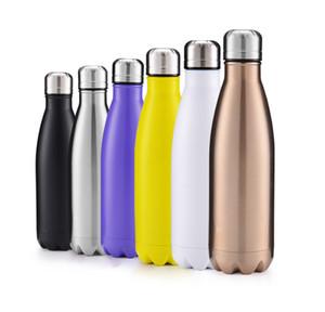 حار بيع 500ML الإبداعية DRINKWARE كولا على شكل زجاجة ماء زجاجة مزدوجة الجدران ذات جودة عالية الفولاذ المقاوم للصدأ في الهواء الطلق المياه هدايا عيد الميلاد