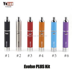 100% ursprüngliches Yocan Evolve PLUS Kit Lila 1100mAh Batterie Wachs Vaporizer Quarz Dual Coil Stealth Wax Vape Pen