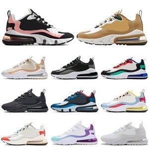 React para hombre de los zapatos corrientes de Formadores Bauhuas Triple Negro Blanco Hombres atletismo al aire libre Deportes Mujeres zapatillas de deporte 36-45 Venta Online