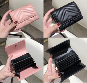 Titolare della carta di alta qualità Famosa borsa del progettista di marca Uomo Donna Porta tessere di stilista di moda Portafoglio di lusso in vera pelle 807