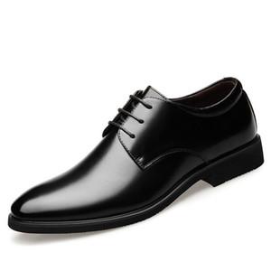 Hauteur Augmentation 6cm ascenseur chaussures de mariage Hommes Oxfords hommes élégante robe formelle Chaussures 2019 Epoux Oxford Business Party Chaussures
