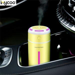 IMYCOO 230ml Ultrasonic carregamento USB Umidificador LED sincronismo luz colorida 5-10h Air Essencial Difusor Oil Versão atualizada