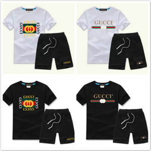 Luxur 2020 Baby Boys And Girls Designer T-shirts And Shorts Suit Brand Tracksuits 2 Kids Clothing Set Hot Sell Fashion Summer Children's T89