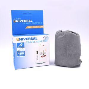 Todo en uno Adaptador de enchufe de alimentación de viaje internacional universal con 2 puertos de cargador USB AU EE. UU. REINO UNIDO UE Enchufe Convertidor portátil