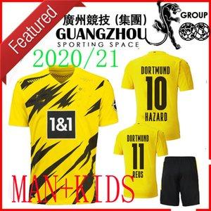 20 21 ADULT KIT 19 20 Borussia Dortmund 110. Jahrestag Kinder Fußball Jersey 2020 GEFAHR 10 REUS Haaland 9 Kind MEN SETS Fussballtrikot
