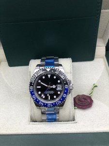 With original box Papers 8 Color GMT Steel Ceramic Black Blue 116710BLNR 116710 40mm 26710BLRO 116710BLNR Asia 2813 Automatic Mens Watch