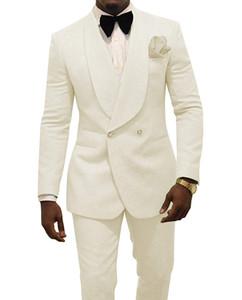 2019 Boda de moda Trajes de novio Trajes de novio Por encargo Padrinos de boda Formales Cena Fiesta Trajes de baile (Chaqueta + Pantalones + Arco) Por encargo B11