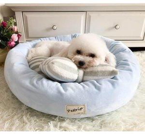 새끼 강아지 고양이 쓰레기 둥지 개집 베개 공급을위한 애완 동물 개 침대 매트 라운드 강아지 패드 겨울 따뜻한 벨벳 소프트 안락 소파