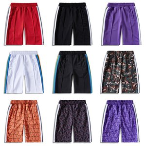 20SS Palm Angels lettre impression arc-en-bande bande sangle décontracté cinq points Homme pantalon Beach Shorts Hommes 2020 luxe designer vêtements