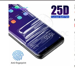 25D Curved Edge Cover Protective Film For Samsung Galaxy Note 8 9 S7 Edge S8 S9 S10 Plus Lite S10E Screen Protector Not Glass