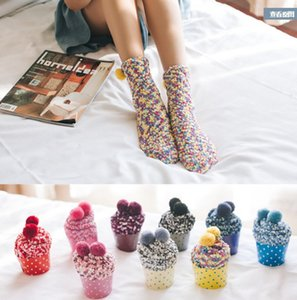 Fashion Women Cup Cake Socks Coral fleece Winter Soft Warm Socks Christmas Gifts