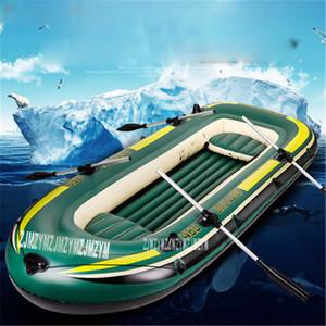 Duplo Adulto barco inflável Super espessamento PVC inflável Rowing Boat 230 * 130 * 36CM Remo com Peças de Reposição