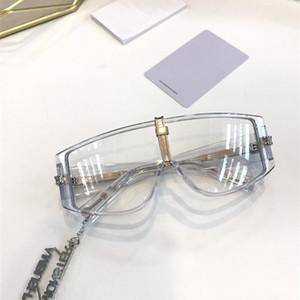 EMBOSCADA Homens Mulheres Sunglasses Moda integrado óculos de sol Proteção UV Lens Coating Espelho Lens Frameless Cor banhado quadro vem com caixa