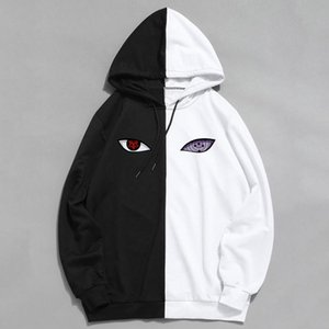 New summer anime brand print the sharingan double color hoodies pullover sweatshirt harajuku hip hop thin clothes