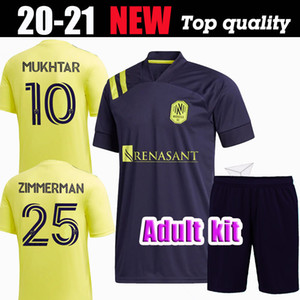 2020 Nashville Kit adulte SC maison loin MUKHTAR BADJI de football Lovitz MCCARTY Godoy BECKELES 20 21 JERSEY MLS FOOTBALL