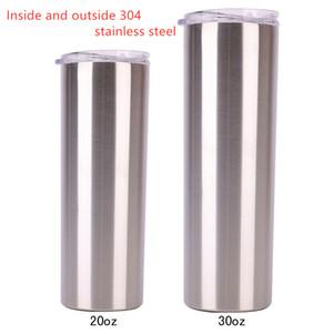 Özel logo tozu ince renk saman ile çift duvar vakum su şişesi mandal sıska mandal 30 oz 20 oz yalıtılmış kaplı çelik
