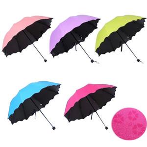 Einfache Art und Weise Frauen Regenschirm Winddichtes Sonnenschutz Magic Flower Dome UV-proof Sonnenschirmsun Regen Folding Regenschirme 6 Farben