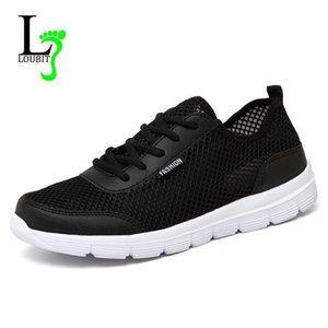 Herren Schuhe 2019 Sommer-Turnschuhe Breathable beiläufige Schuh-Mode Komfortable Lace up Männer Turnschuhe Mesh-Wohnungen Plus Size