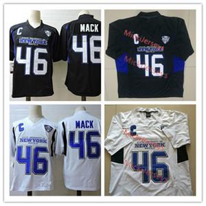 Hommes NCAA Buffalo Bulls # 46 Khalil Mack College Football Jersey Blanc Noir # 46 Khalil Mack Buffalo Bulls Jersey S-3XL