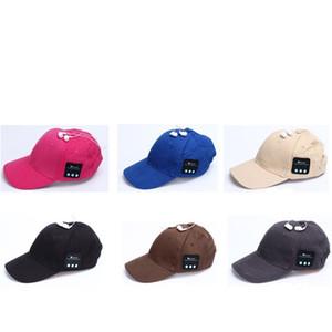 Berretti da baseball Bluetooth Cuffia senza fili di colore puro Cappello Snapback Moda creativa Lady Summer Sunscreen 26cl UU
