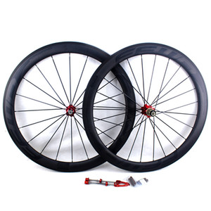 Rueda de bicicleta de fibra de carbono ruedas de carretera 50 mm FFWD F5R BOB superficie de freno de basalto clincher tubular carretera bicicleta carreras ruedas llanta ancho 25 mm UD mate